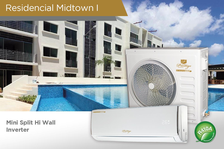 Midtown Cancun Mini Split Hi Wall Inverter
